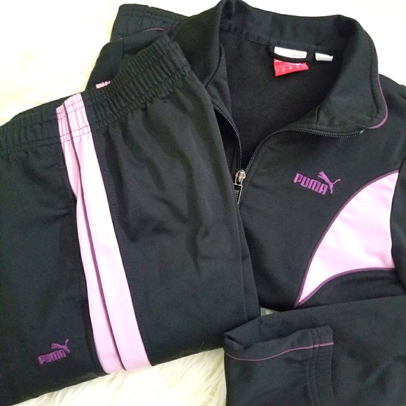 Puma Black Lavender Tracksuit Set